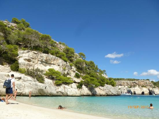 Cala Macarella from cliff top path. - Picture of Cala Macarelleta, Minorca - ...