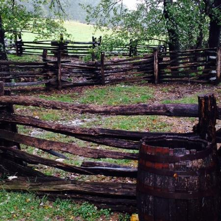 Booker T. Washington National Monument: Rustic Fencing