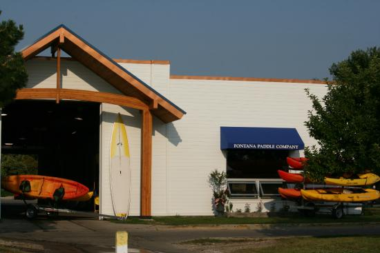 Fontana Paddle Company is a retail and rental shop.