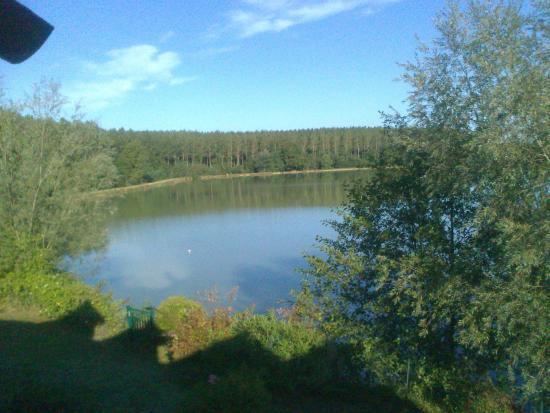 Pierre & Vacances Résidence Le Hameau du Lac : vu de la chambre, maison n° 47