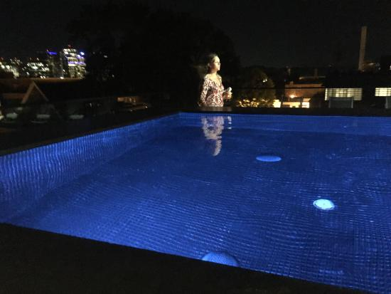 infinity pool night. Rosewood Washington, D.C.: The Roof Top Infinity Pool By Night. Night
