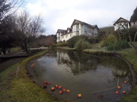 Rupu Pehuen Resort : Lago no hotel congelado no início do inverno