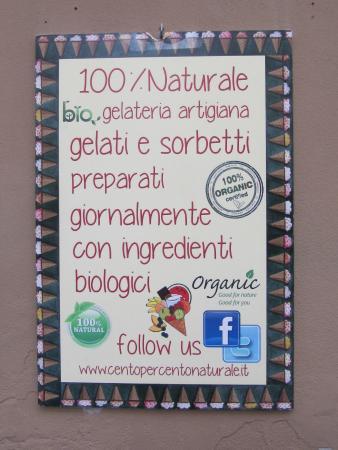 Via XXV aprile: che gelateria: 100% naturale