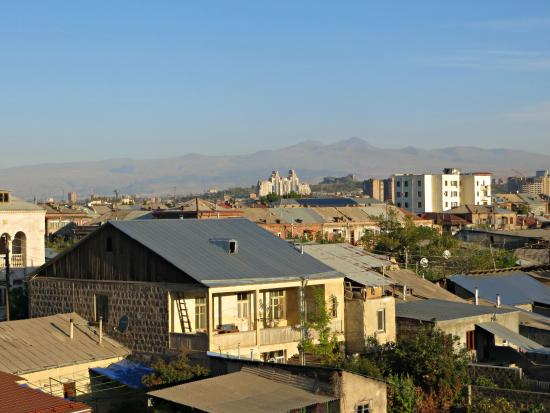 Areg Hotel : View of Mount Aragats from the top floor of the hotel
