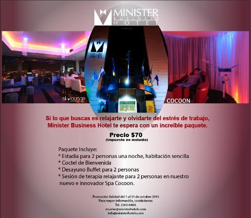 Minister Business Hotel: Promoción mes de Octubre