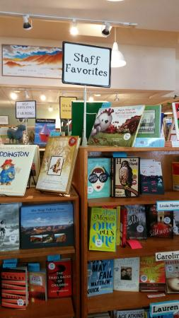 Malaprop's Bookstore and Cafe: Staff Favorites Display