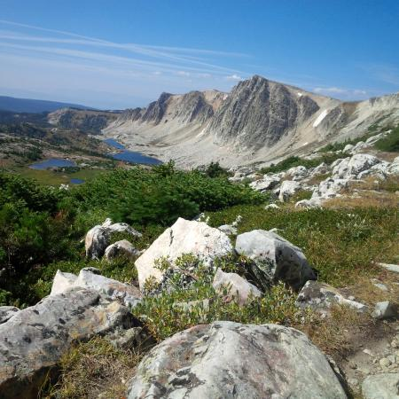 View from the top of Medicine Bow Peak, Snowy Range