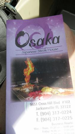 Osaka Japanese Steak House