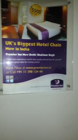 Caspia Hotels - Bengaluru : Ad inside the hotel