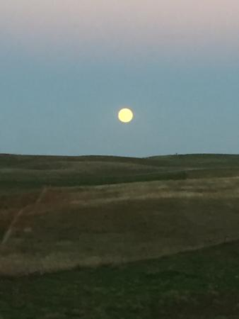 Estherville, IA: Full moon from our private deck