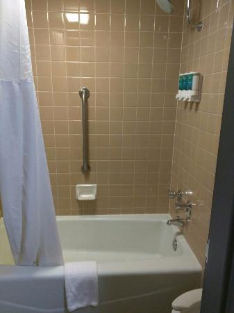 Drury Inn Kansas City Shawnee Mission: Bathroom, small but you only shower in there.