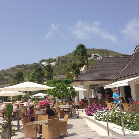 Cap Estate, Saint Lucia: By the restaurant