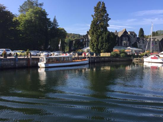Lakeside on cruise boat