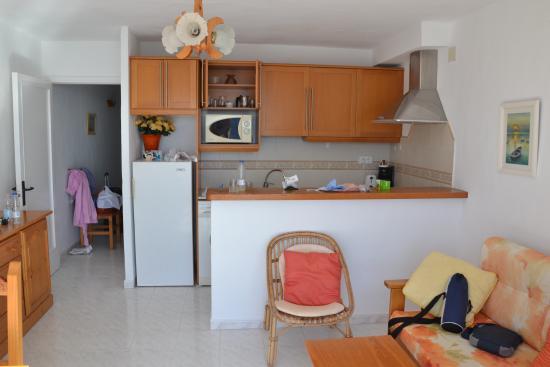 Sant Vicent de sa Cala, Spanje: Il soggiorno lato cucina