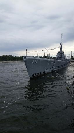 USS Silversides Submarine Museum: Gato class sub.