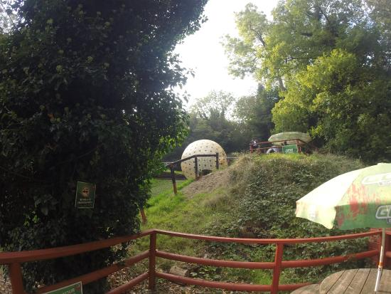 Whyteleafe, UK: Our first view of the Zorb ball