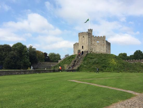beautiful motte and bailey castle  picture of cardiff