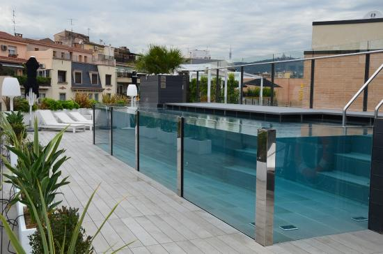 Roof Top Glass Pool Picture Of Catalonia Eixample 1864 Barcelona Tripadvisor