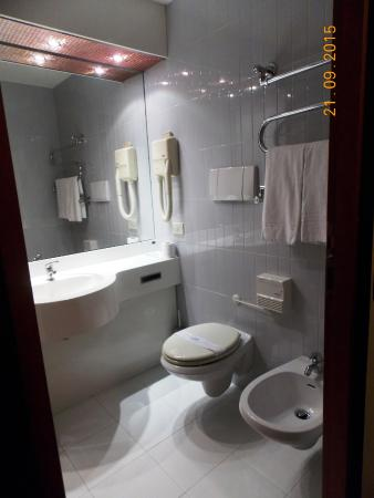 Executive Hotel : Санузел чистый, есть только мыло и шампунь