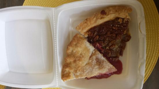 Toot's Drive-In: One slice pecan & one slice cherry
