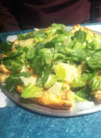Cape Cod Cafe: Chicken Caesar Salad pizza