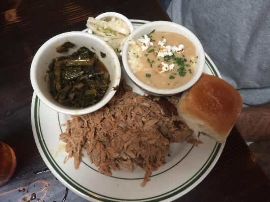 Buxton Hall Barbecue: Pulled Pork Plate