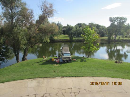 Wilton, CA: View of lake from hotel