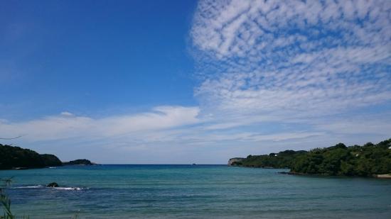 Satohama Beach: 秋の里浜海水浴場です。