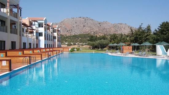 Lindos Imperial Resort Spa Side Veiw Pool Private Area