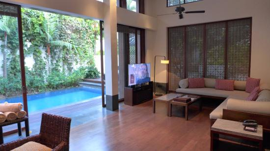 The Lounge Of The 2 Bedroom Villa Picture Of Fairmont Sanur Beach Bali Tripadvisor