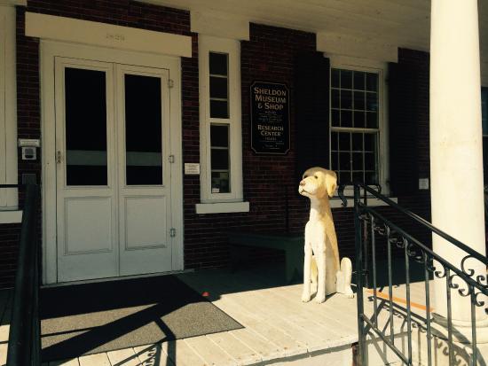 Henry Sheldon Museum of Vermont History: front door