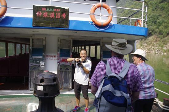 Badong County, China: The larger transit boat