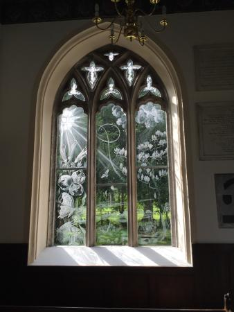 Moreton, UK: Etched Window 1