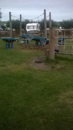Chickerell, UK: View from East fleet farm in the evening and pictures of the children's play park