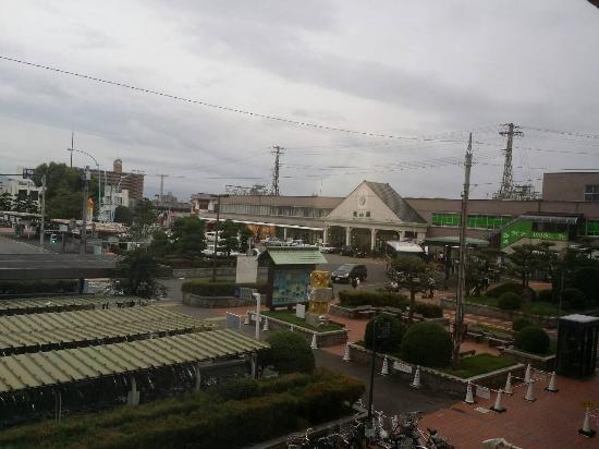 Terminal Hotel Matsuyama: Matsuyama station view from the room