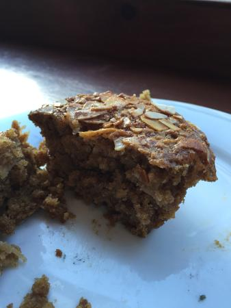 Wired Monk Coffee Bistro- Halifax: Apple Oat Muffin - fresh, warm and delicious.