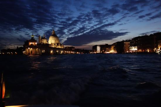 Hotel Palazzo Stern: St Marks by water taxi at night
