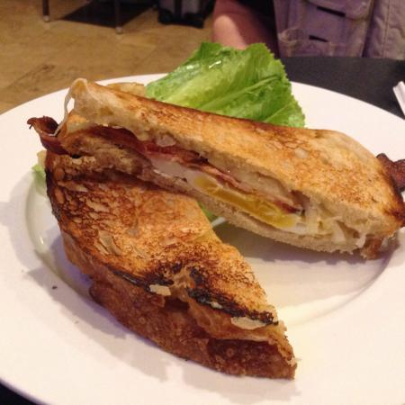 Campanile: Breakfast sandwich with Gruyere