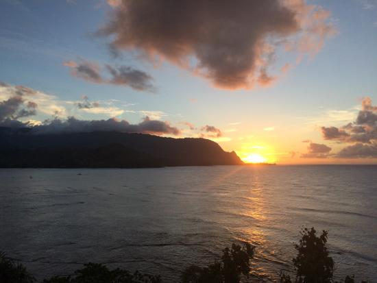 Sunset From The Restaurant Picture Of Princeville Resort