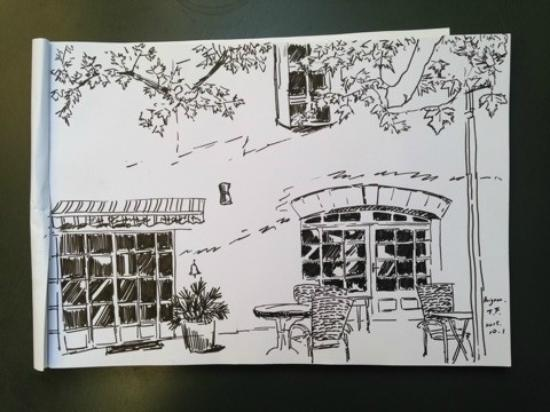 croquis d 39 un invit chinois picture of hotel restaurant la ferme avignon tripadvisor. Black Bedroom Furniture Sets. Home Design Ideas