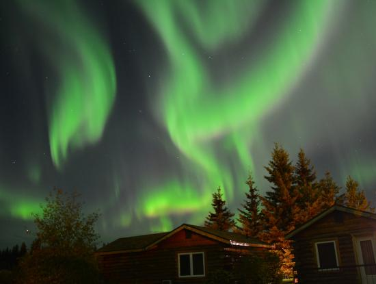 Northern Lights From Pikeu0027s Waterfront Lodge, Fairbanks