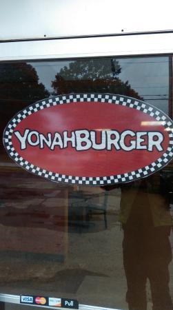 Yonah Burger: Window sign