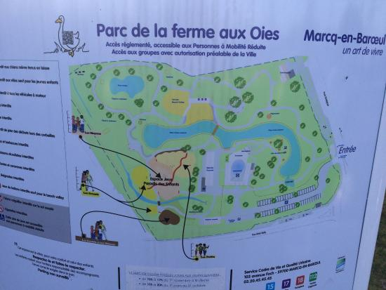 Marcq-en-Baroeul, France: Plan du parc