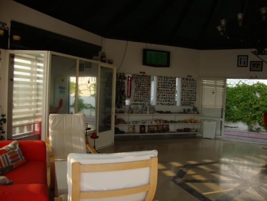 La Maison Apartments: inside the reception area