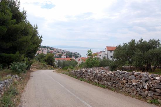 Ciovo Island, Kroatien: Widok na południowo -zachodnie wybrzeże Ciovo