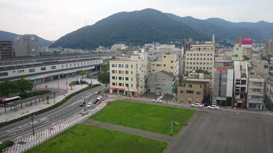Mihara Kokusai Hotel: View from room. Do request for room which face the open space
