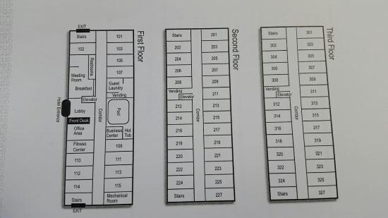 Hampton Inn Longmont : Floor layout