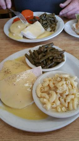 Stanton, KY: Turkey and dressing, macaroni and cheese, green beans. Homemade.