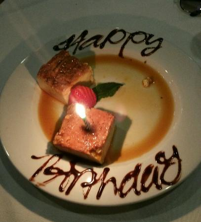 Coco Palm: The free birthday flan!