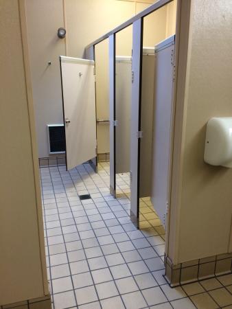 Kooser State park: Very clean women's bathroom in the cabin area.